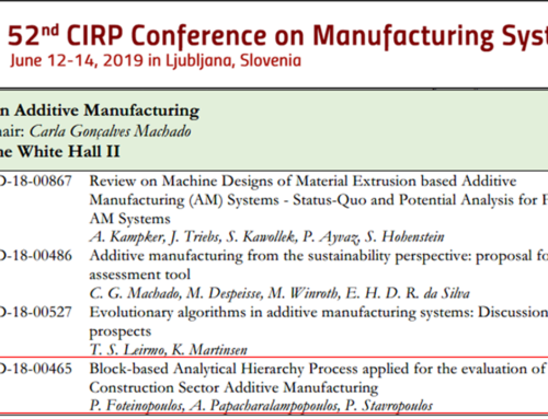 LMS at the 52nd CIRP Conference on Manufacturing Systems.